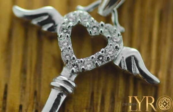 Bilde av Nøkkelen til Kjærligheten - Sølv CZ