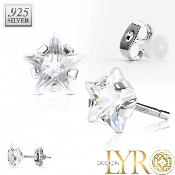 Bilde av Stjerner - Sølvsmykke CZ