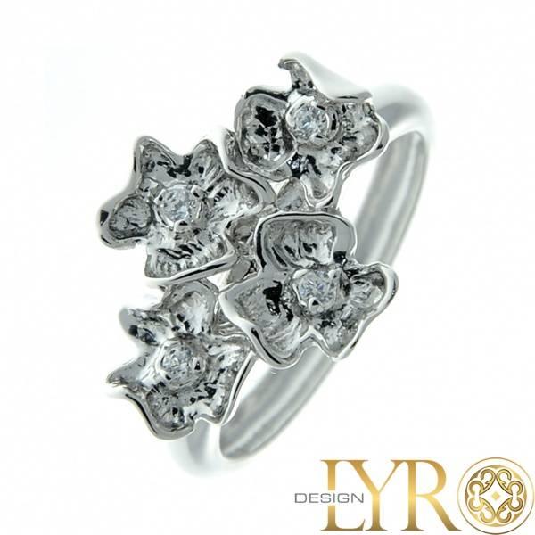 Bilde av Blomstereng - Sølvring med Cubic Zirconia