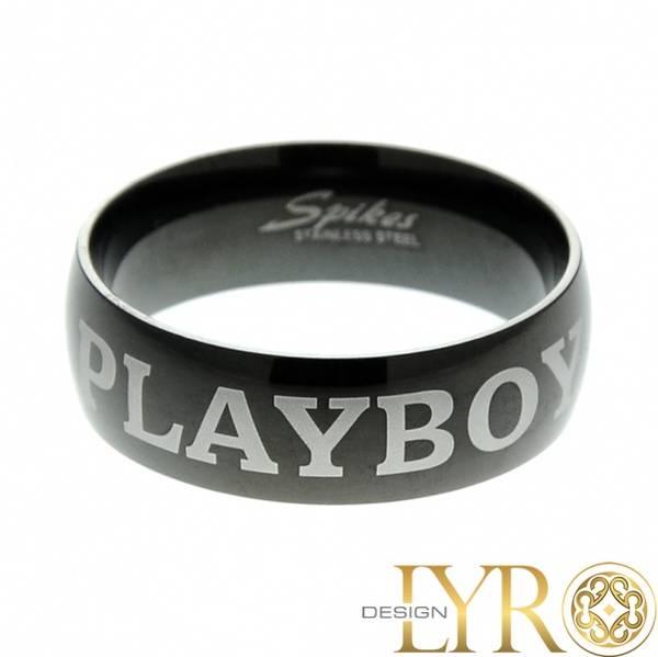 Bilde av Playboy - Sort Stålring