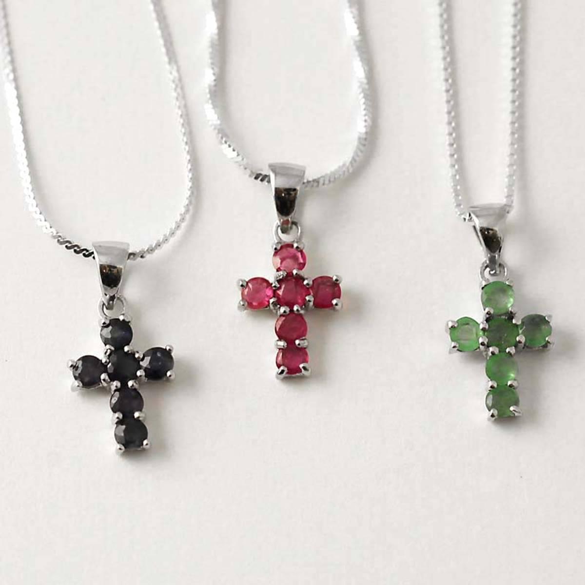 Lite kors - Rubiner - Smaragder - Safirer